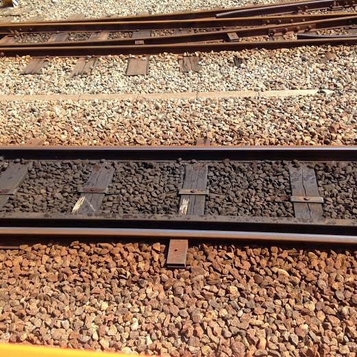 トロッコ列車線路